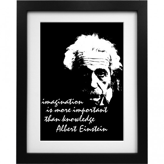 "Albert Einstein ""Imagination"" Quote Art Print"