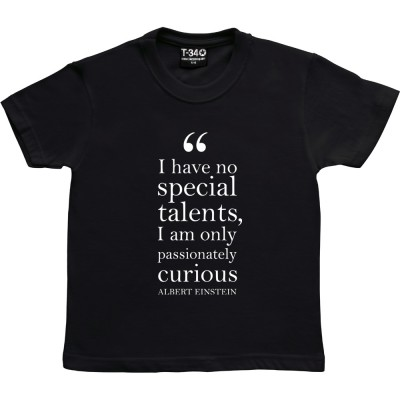 "Albert Einstein ""Passionately Curious"" Quote"
