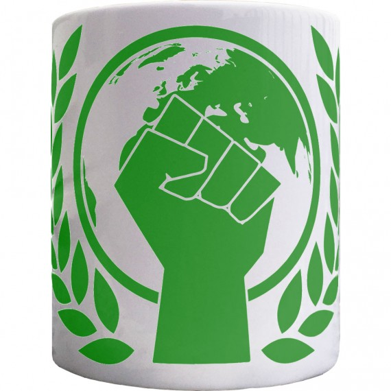 Environmentalist Fist Ceramic Mug