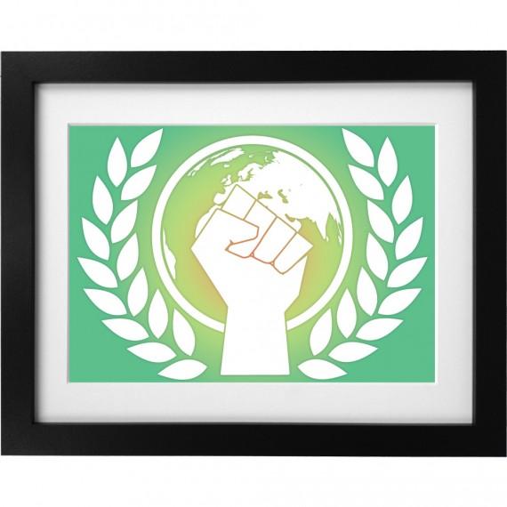 Environmentalist Fist Art Print