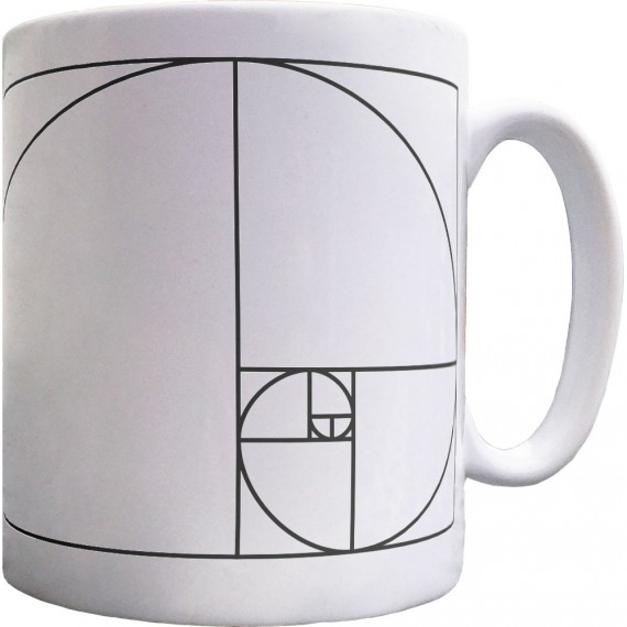 Fibonacci Spiral Ceramic Mug