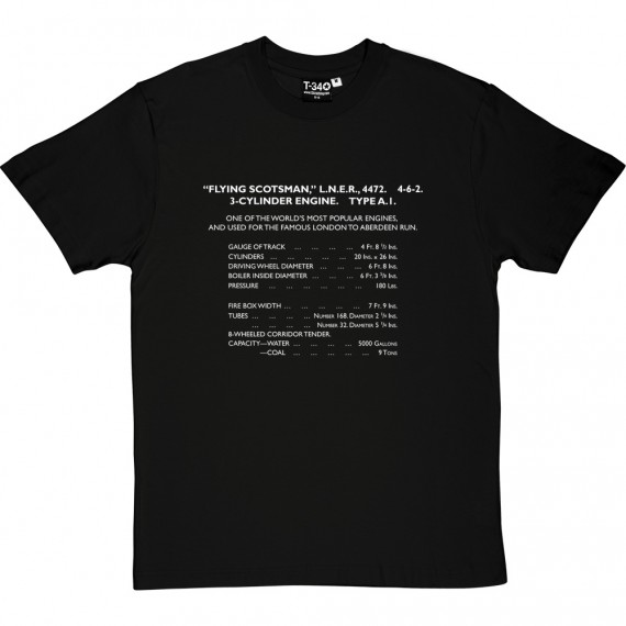 Flying Scotsman Specification T-Shirt