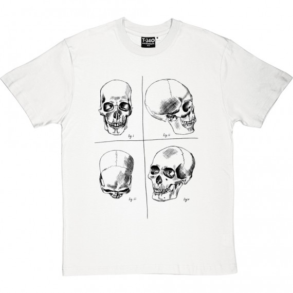 Four Studies of a Human Skull T-Shirt