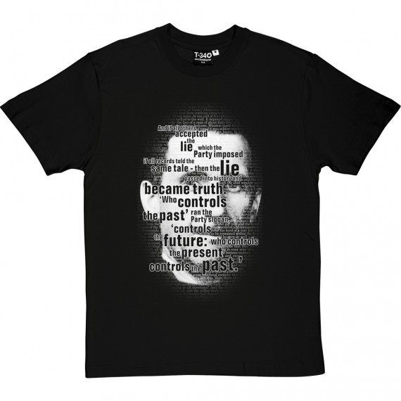 "George Orwell ""Who Controls the Past"" T-Shirt"