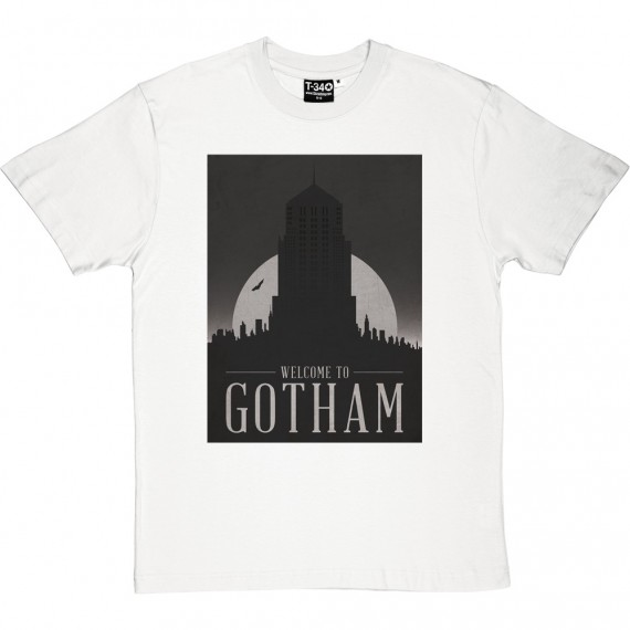 Gotham City Travel Poster T-Shirt