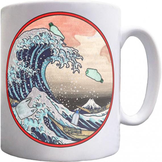 The Great Wave Off Kanagawa (Ocean Plastics) Ceramic Mug