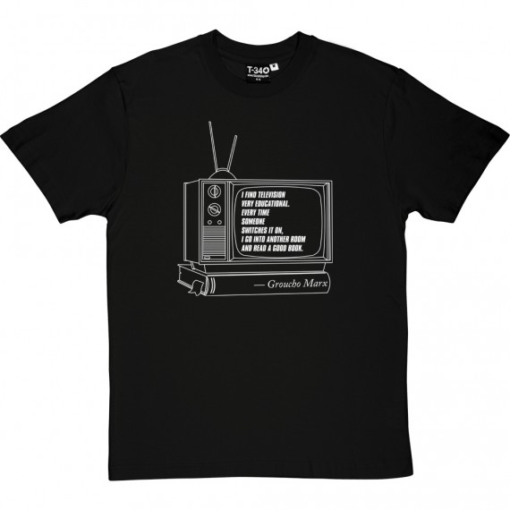 """Groucho Marx """"Television"""" Quote T-Shirt"""