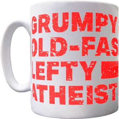 Grumpy Old-Fashioned Lefty Atheist Mug