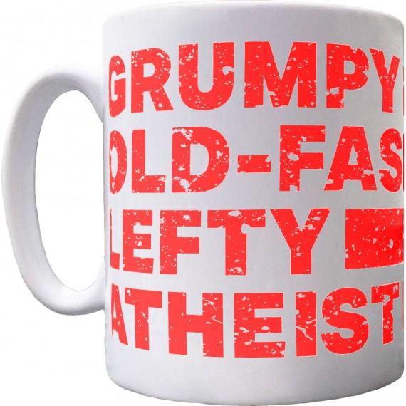 Grumpy Old-Fashioned Lefty Atheist Mug
