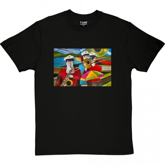 Three Musicians In Towneley Park by Hadrian Richards T-Shirt