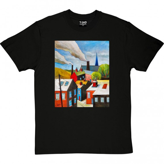 The Red Door In A Northern Scene by Hadrian Richards T-Shirt