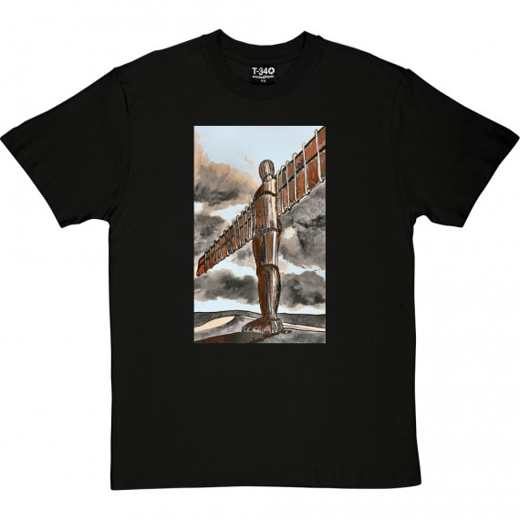 The Angel Of The North Tall And Proud by Hadrian Richards T-Shirt