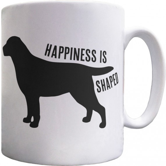 Happiness is Dog Shaped Ceramic Mug