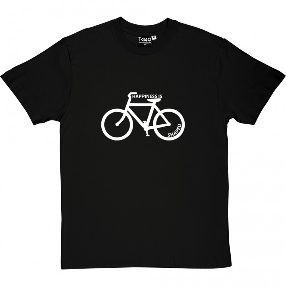 Happiness is Bicycle Shaped T-Shirt
