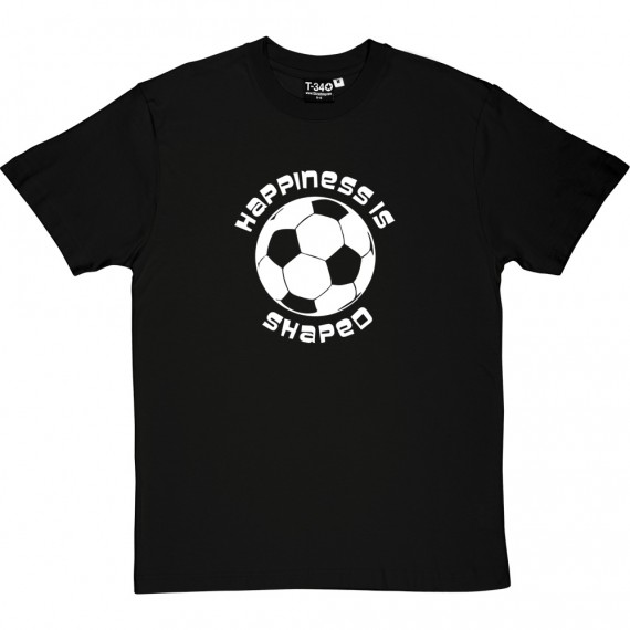 Happiness is Football Shaped T-Shirt