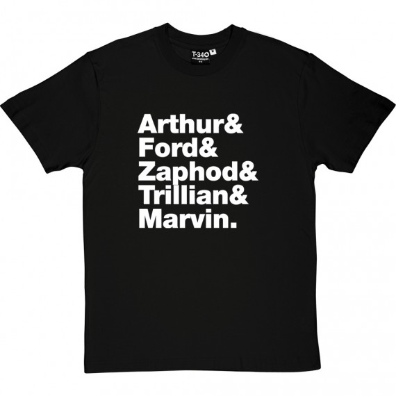 The Hitch Hikers' Guide To The Galaxy Line-Up T-Shirt