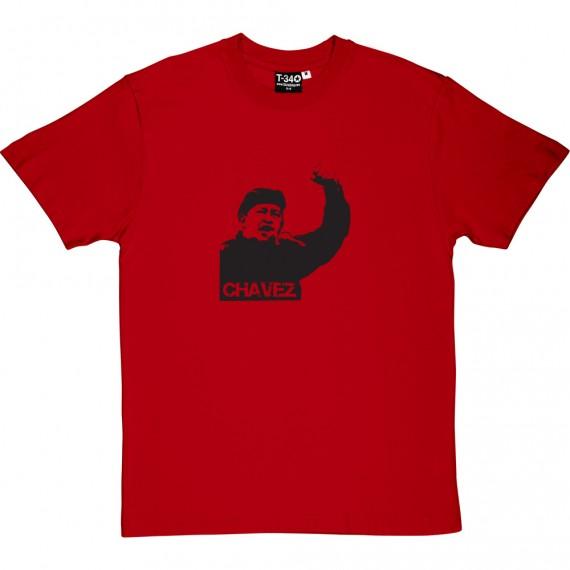 Hugo Chavez: Black Print T-Shirt