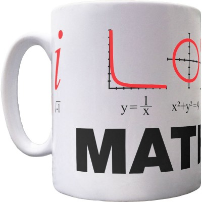 I Love Maths Ceramic Mug