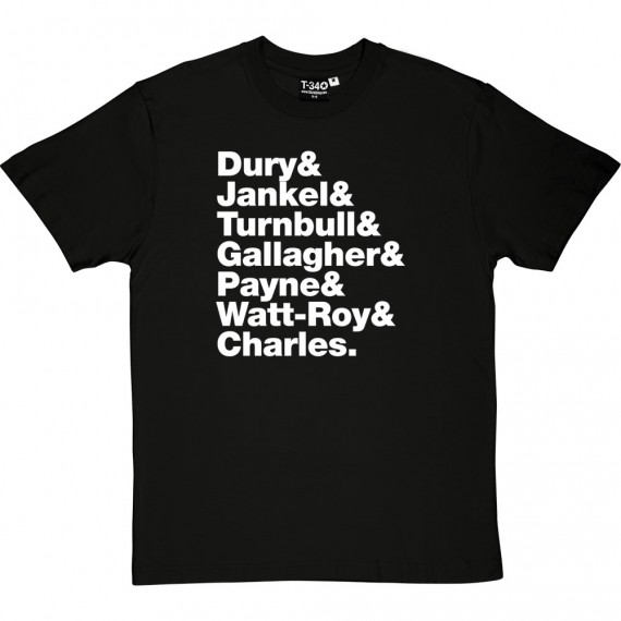 Ian Dury & The Blockheads Line-Up T-Shirt