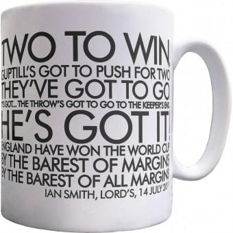 "Ian Smith ""By The Barest Of Margins!"" Ceramic Mug"