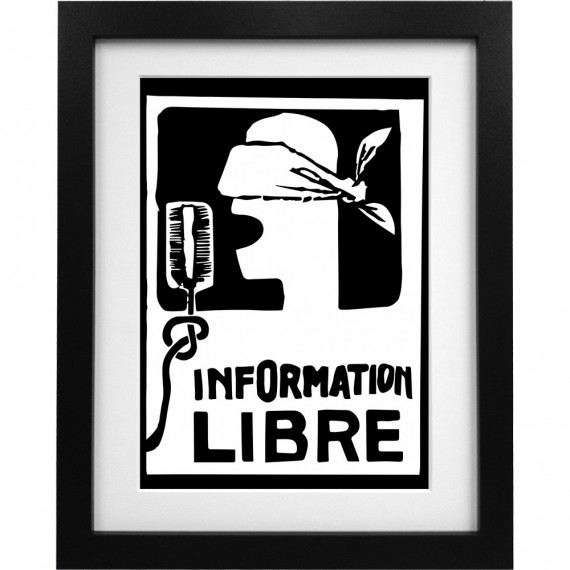 Information Libre Art Print