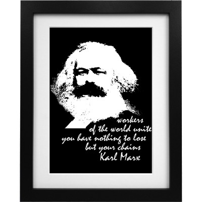 "Karl Marx ""Workers"" Quote Art Print"