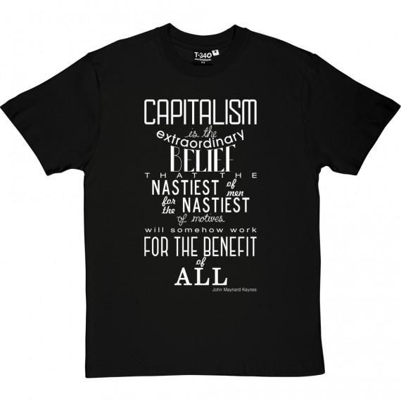 "John Maynard Keynes ""Capitalism"" Quote T-Shirt"
