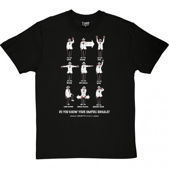 Know Your Umpire Signals T-Shirt