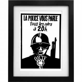 La Police Vous Parle Tous Les Soirs à 20h Art Print