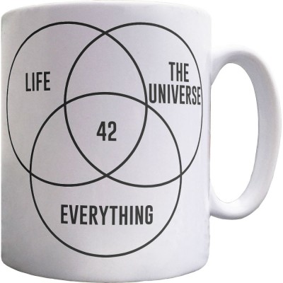 Life, The Universe, and Everything: 42 Ceramic Mug