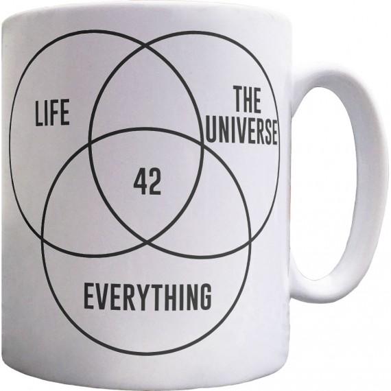 Life, The Universe, and Everything: 42 Ceramic Mug
