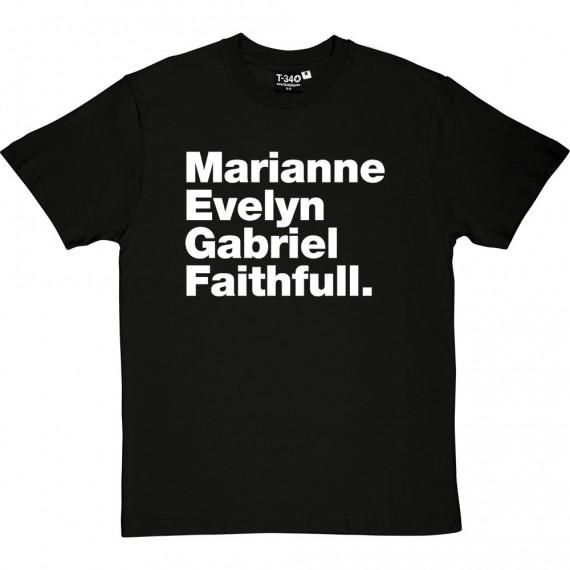 Marianne Evelyn Gabriel Faithfull T-Shirt