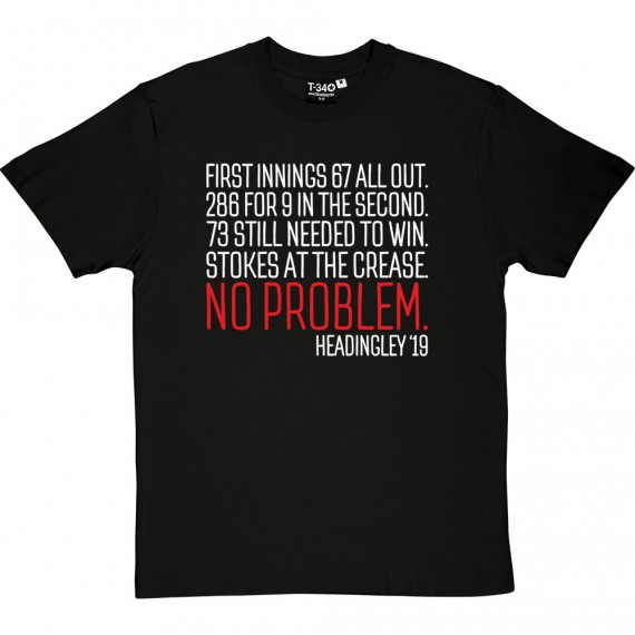 Ben Stokes At The Crease: No Problem T-Shirt