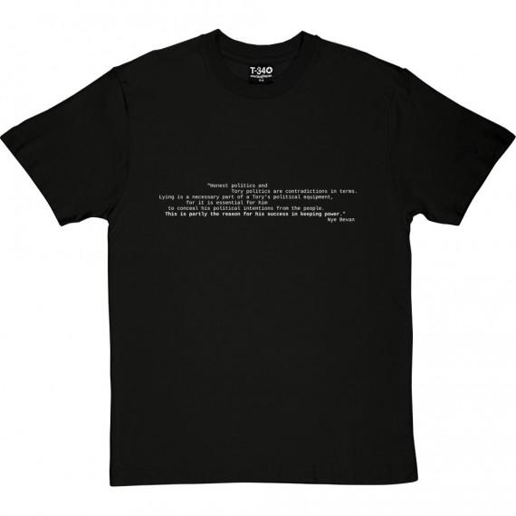 "Nye Bevan ""Honest Politics"" Quote T-Shirt"