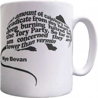 "Nye Bevan ""Vermin"" Quote Ceramic Mug"