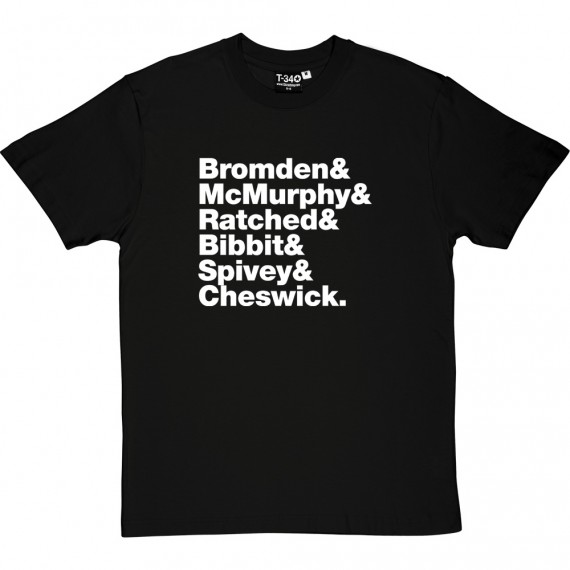 One Flew Over The Cuckoo's Nest Line-Up T-Shirt