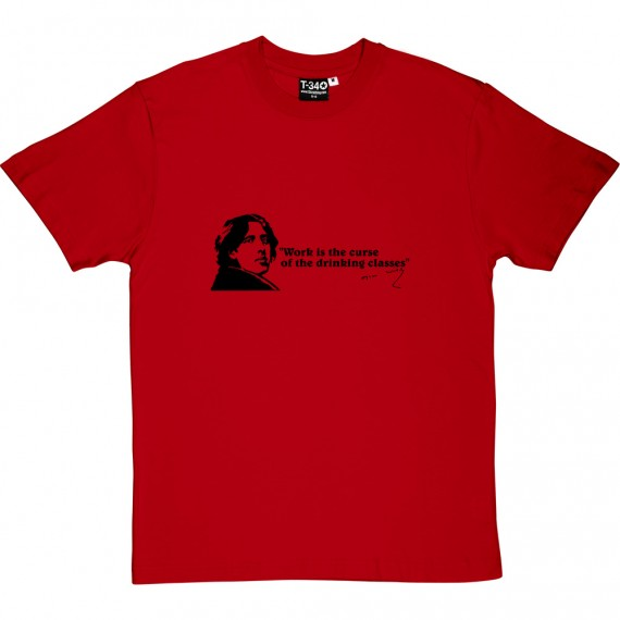 "Oscar Wilde ""Drinking Classes"" Quote T-Shirt"
