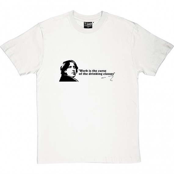 """Oscar Wilde """"Drinking Classes"""" Quote T-Shirt"""