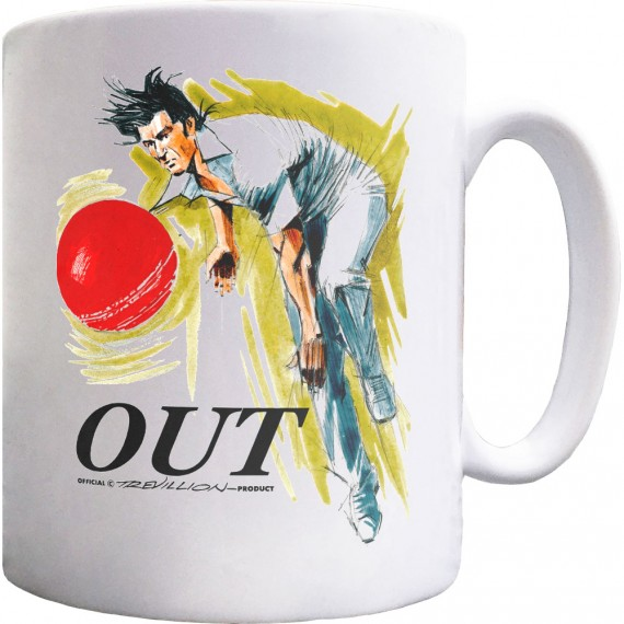 Out! Fast Bowler In Action Ceramic Mug
