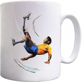 Pele Overhead Kick Ceramic Mug