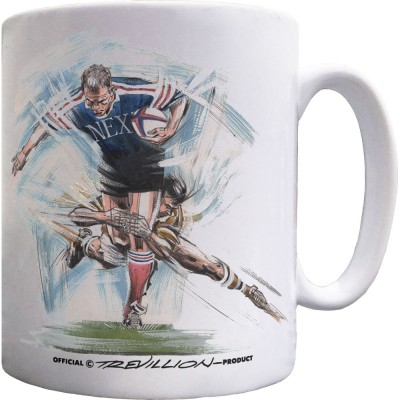 """The Perfect Tackle From Behind"" Ceramic Mug"
