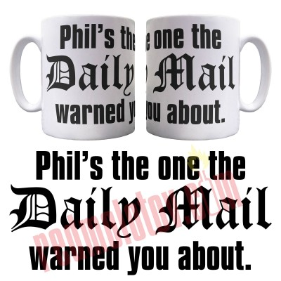 Personalised Daily Mail Ceramic Mug
