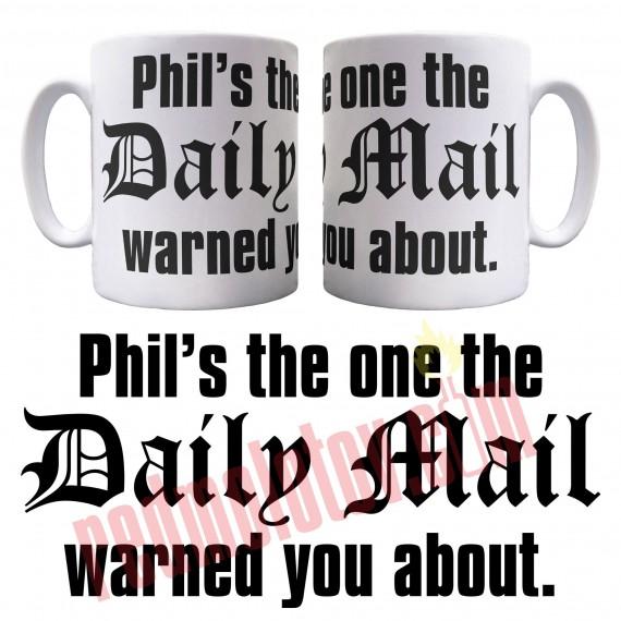 Personalised Daily Mail Ceramic Mug