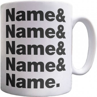 Personalised Line-Up Ceramic Mug