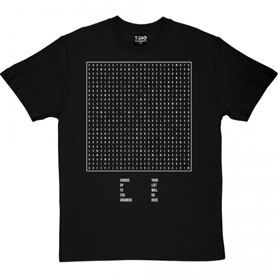 Personalised Word Search T-Shirt