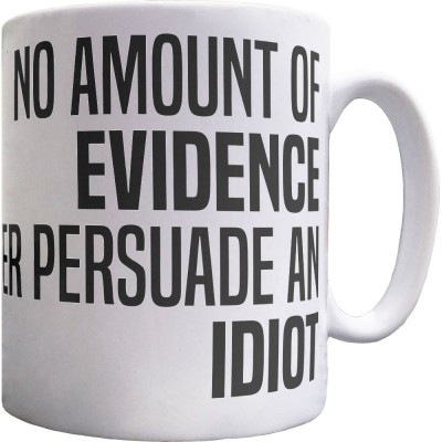 No Amount Of Evidence Will Ever Persuade An Idiot Ceramic Mug