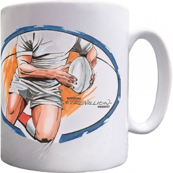 Rugby Running Ceramic Mug