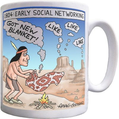 Early Social Networking Mug