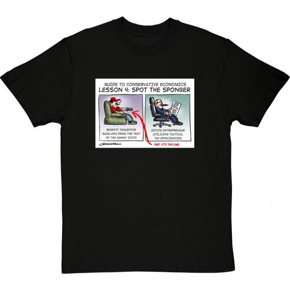 Guide To Conservative Economics: Spot The Sponger T-Shirt