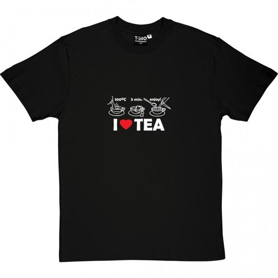Tea Making Diagram - I Love Tea T-Shirt